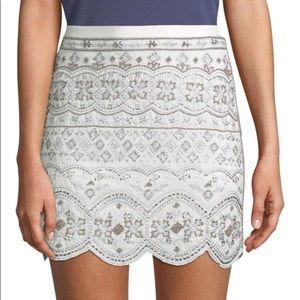 Club Monaco embellished skirt